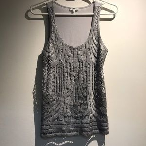 Express silver and grey tank top